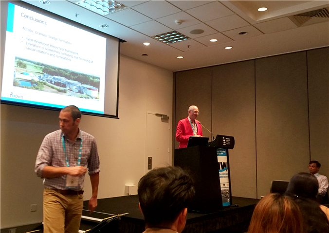 Professor Mark Van Loostredcht and Professor Damien Batstone speaking about Aerobic Granular Sludge Small